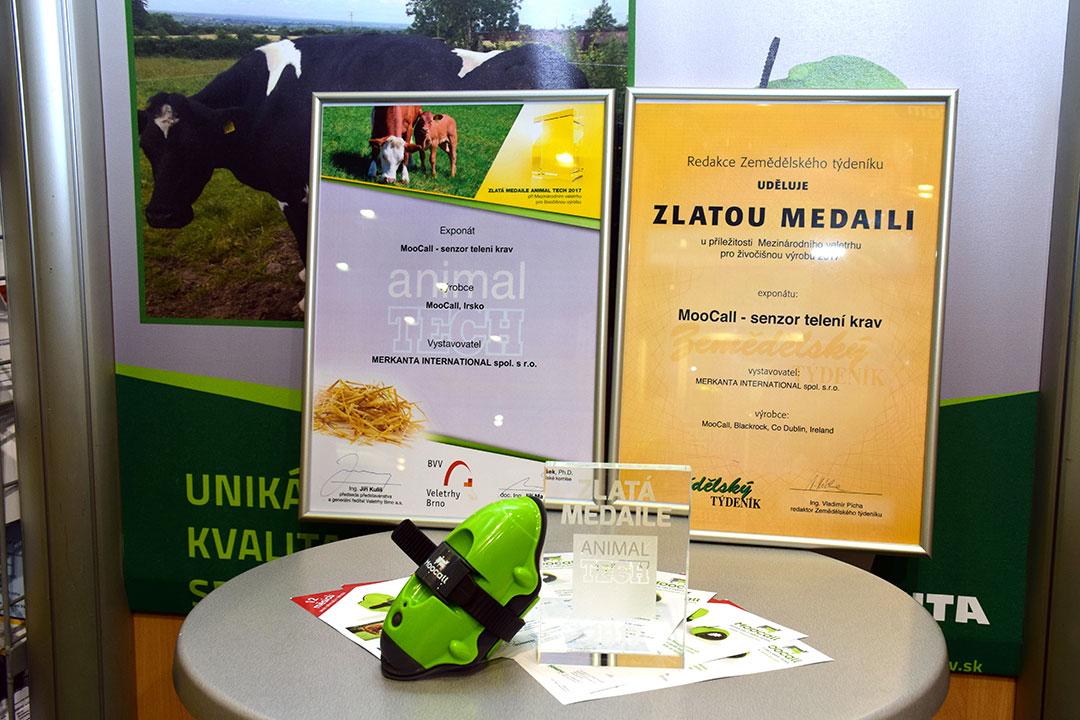 Zlatá medaila pre Moocall na Animal Tech 2017